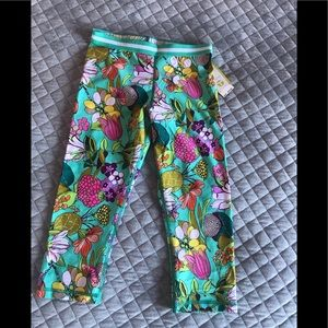 Trina Turk floral printed work out pants NWT